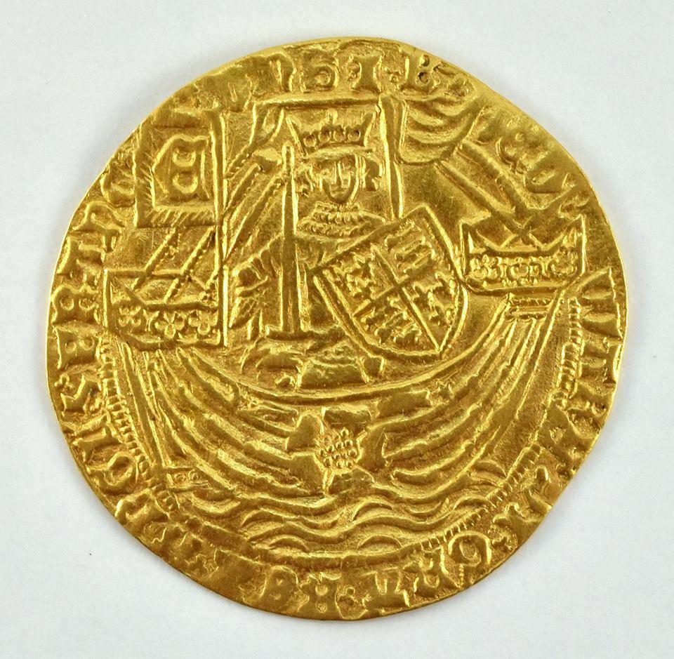 """Na naszej 1-szej Aukcji """"Numizmatyka"""" – Rose-noble bądź ryal Edwarda IV"""