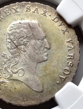 """Na naszej 1-szej Aukcji """"Numizmatyka"""" – 1/6 talara 1812 rok – piękna!"""