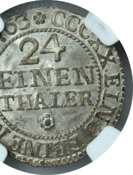"""Na naszej 1-szej Aukcji """"Numizmatyka"""" – 1/24 Talara 1763 NGC MS66!"""