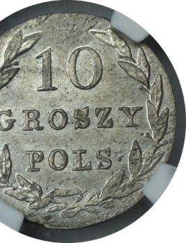 """Na naszej 1-szej Aukcji """"Numizmatyka"""" – 10 groszy 1830 FH! Piękne!"""