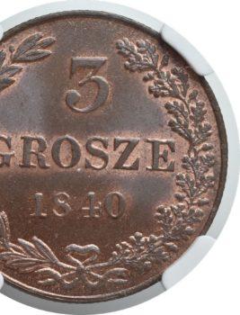 """Na naszej 1-szej Aukcji """"Numizmatyka"""" – 3 grosze 1840 rok! Piękne!"""