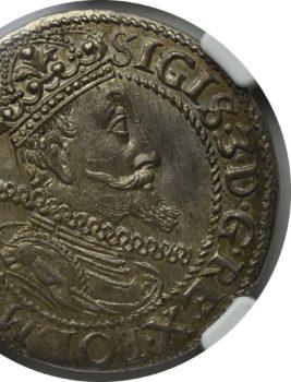 """Na naszej 1-szej Aukcji """"Numizmatyka"""" – Ort gdański z roku 1615, NGC MS64!"""