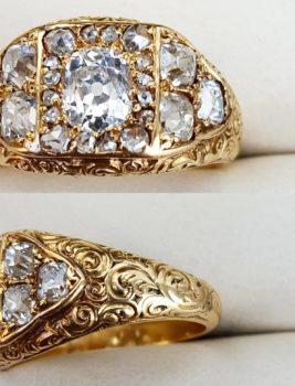 """Na naszej 2-giej Aukcji """"Bizuteria i Sztuka"""" – wyrób w stylu Wiktoriańskim z 23 diamentami w starych szlifach!"""